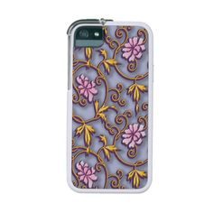Elegant peonies arabesque on light purple japanese #iphone5case