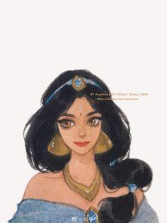 Disney Artwork, Disney Fan Art, Disney Drawings, Disney Princess Pictures, Disney Princess Art, Princess Jasmine Art, Disney Cartoons, Disney Movies, Disney Characters