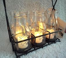MILK BOTTLE LANTERNS Vintage Style Dairy Rustic Farm Wedding Party Patio Lights
