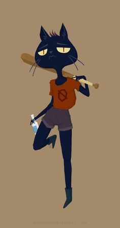 "openanewtab: "" Mae - from Night in the Woods final product from my livestream earlier :) thanks to everyone who came to watch, y'all were delightful! """