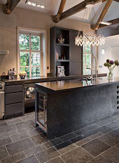 Blegian Bluestone Flooring - Stone Kitchen Floors - @ ADR