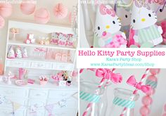 Hello Kitty party supplies! Tons of Hello Kitty party items in Kara's Party Shop | karaspartyideas.com/shop #hello #kitty #party #supplies