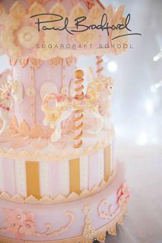 So cute! Merry go round cake :)