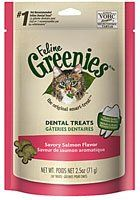 Feline Greenies Dental Treats Savory Salmon for Cats, 2.5-Ounce * Click image to review more details.