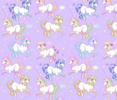 Candy Ponies fabric by lovelylatte on Spoonflower - custom fabric
