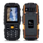 """﹩42.99. For ATT 2.4"""" Rugged Phone Waterproof 4800mAh Unlocked 2G 2SIM Outdoor Cell phone    Contract - Without Contract, Operating System - Not Android Not Smartphone, Storage Capacity - <2GB, RAM - <128MB, Camera Resolution - 0.3MP, Screen Size - 2.4"""" HD, Resolution - 240X340 HD pixels, Battery Capacity - 4800mAh, Cellular Band - 2G: GSM850/900/1800/1900MHz, Features - Power Bank,FM Radio,MP3 Playback,Flashlight, Processor - MTK6261 Single Core,"""