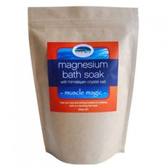 Magnesium Bath Soak with Himalayan Salt :- Magnesium sulfate - Epsom Salt is easily absorbed through the skin in a bath as it draws toxins from the body, relaxes the muscles and reduces inflammation and swelling to relieve pain and muscle cramps.
