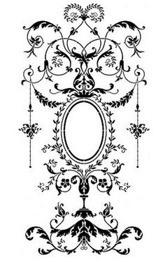 Wall stencil Versailles Grand Panel - amazing detail - Elegant French decor - Wall stencil Versailles Grand Panel LG by CuttingEdgeStencils - Damask Stencil, Stencil Patterns, Stencil Art, Stencil Designs, Stenciling, Motif Arabesque, Versailles, Shading Techniques, Free Stencils