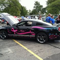 mustang car supporting cancer