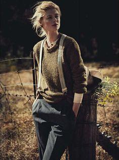 Elizabeth Debicki, photographed by Will Davidson for Vogue Australia, December 2012.