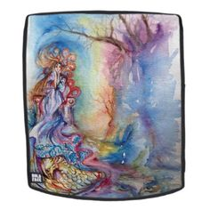 LADY OF THE LAKE Pink Blue Fantasy Backpack - winter gifts style special unique gift ideas