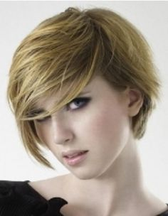Short, sporty hairstyle for girls.