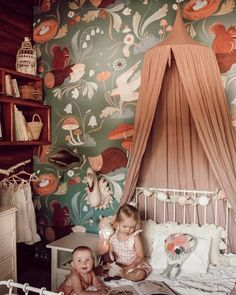 Pippie Mural Hedgehog Animal Nursery Wallpaper Mural is part of Kids bedroom designs This whimsical forest will encapsulate your Child& room and imagination Luscious flowers will bloom alongsid - Animal Bedroom, Animal Nursery, Bedroom Art, Girls Bedroom, Bedrooms, Bedroom Ideas, Modern Bedroom, Tier Wallpaper, Nursery Wallpaper
