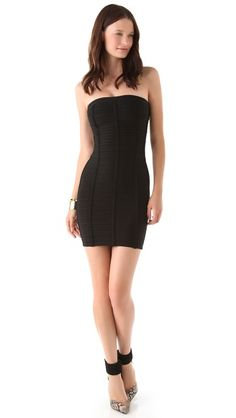 b49da03dab Herve Leger Signature Essentials Strapless Dress Herve Leger Dress