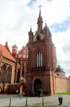 Bell Tower of St. Anne's Gothic Church - Vilnius - Lithuania