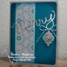 Barbara's Craft Circle: Winter Frost Merry Card - Expressions Thinlits Die