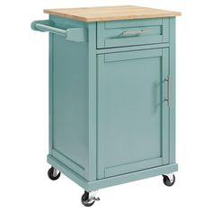 Carey Small Kitchen Cart - Pale Blue - Threshold
