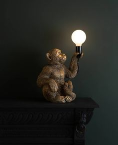 Koko Sitting Monkey Lamp Monkey Holding Bulb Lamp Our Koko Sitting Monkey Lamp Is A Cheeky Chap Who Looks Like He 39 S Holding Up A Peace Offering After A Spot Of Monkeying Around On The Furniture Brass Pendant Light, Ceiling Pendant, Pendant Lamp, Pendant Lighting, Ceiling Lights, Gold Ceiling Light, Brass Lamp, Gold Light, Wall Lights