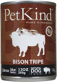 PetKind That's It Grain Free Bison Tripe Canned Dog Food