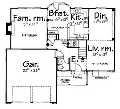 House Plan chp-21791 at COOLhouseplans.com Adorable house!