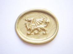 Welsh Dragon Handmade Wax Seal wedding supplies by VenusEnvyPaper