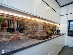 Kitchen Room Design, Modern Kitchen Design, Living Room Kitchen, Modern House Design, Kitchen Interior, Modern Farmhouse Kitchens, Home Kitchens, Industrial House, Sweet Home