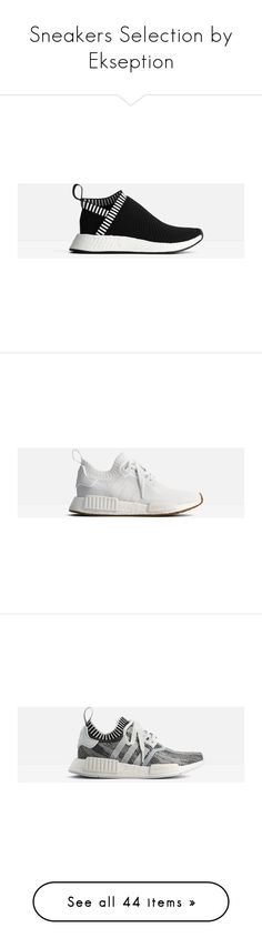 """Sneakers Selection by Ekseption"" by ekseption ❤ liked on Polyvore featuring shoes, sneakers, white, golden goose sneakers, golden goose, golden goose shoes, white trainers, star shoes, black and adidas trainers"