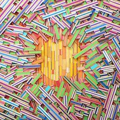 sliced pencils by david poppie