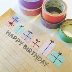 Presents made from washi tape.