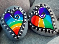 Made for Each Other Magnets / Painted Rocks / by LoveFromCapeCod, $44.00