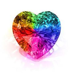 Over the Rainbow Heart Gem Love Rainbow, Taste The Rainbow, Rainbow Art, Over The Rainbow, Rainbow Colors, Rainbow Glass, Rainbow Things, Rainbow Stuff, Rainbow Rocks