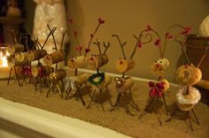 DIY wine cork reindeer