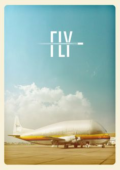 This is one of my favorite ads thus far. I love that the photo has a vintage tint and the use of typography is brilliant. The blur in the middle of the type really conveys the idea of flying to good use