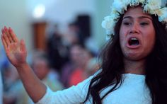 Watch the moment the bride and groom take part in their own surprise haka