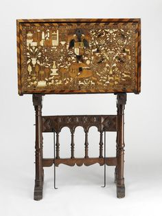 Cabinet and stand, made Spain ca. 1560-1600