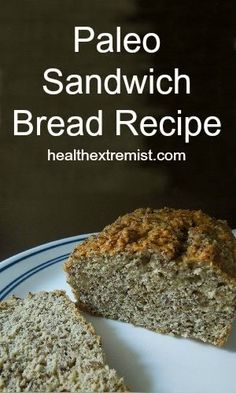 Also makes a great Sandwich Paleo Bread Recipe. This paleo bread recipe is gluten free, low carb, dairy free, yeast free DOUBLE RECIPE FOR FULL LOAF Carb Free Bread, Best Low Carb Bread, Grain Free Bread, Lowest Carb Bread Recipe, Paleo Bread, Paleo Baking, Paleo Sandwich Bread, Bread Diet, Paleo Pizza