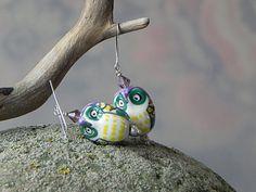 Girls Owl Earrings Purple Owl Earrings Owl Jewelry Porcelain Dangly Owl Earrings Owl Earrings Colorful Earrings Fun Porcelain Earrings