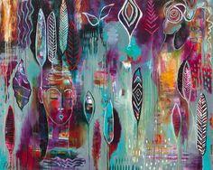 """Muse Dance""  by Flora Bowley, 2012 #florabowley #braveintuitivepainting"