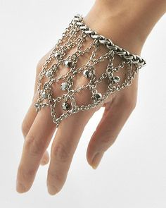 Slave to Fashion Silver Slave Bracelet
