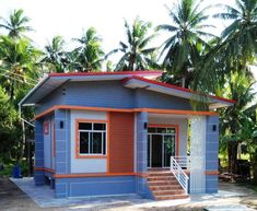 Fit For Your Budget: Single Storey House - House And Decors Small House Layout, Modern Small House Design, Small Modern Home, Simple House Design, House Layouts, Tiny House 2 Bedroom, 2 Bedroom House Plans, Modern Bungalow House, Bungalow House Plans
