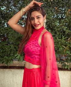 Saree Wearing Styles, Surbhi Chandna, Indian Tv Actress, Indian Bridal Outfits, Confident Woman, Girl Photo Poses, Indian Celebrities, Colorful Fashion, Beautiful Actresses