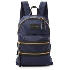 Marc Jacobs Nylon Biker Backpack ($195) ❤ liked on Polyvore featuring bags, backpacks, midnight blue, marc jacobs backpack, backpacks bags, zipper bag, nylon zip bag and marc jacobs bags