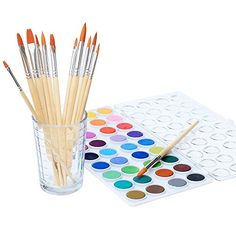 Watercolor Artist Set, 36 Colors, Includes a Variety of 12 Quality Brushes, Everything You Need to Get Started! Brushes Works Great for Watercolor and Acrylic (Watercolor Pan)  #36Colors #ArtsandCraftsSupplies #EverythingYouNeedtoGetStarted!BrushesWorksGreatforWatercolorandAcrylic(WatercolorPan) #IncludesaVarietyof12QualityBrushes #kedudes #WatercolorArtistSet