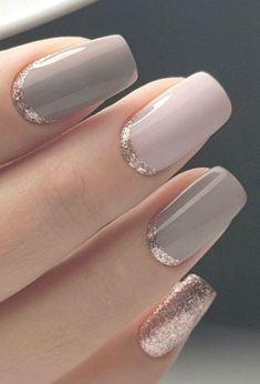 Neutral Wedding Nails, Wedding Nails Design, Neutral Nails, Simple Wedding Nails, Trendy Wedding, Neutral Colors, Simple Elegant Nails, Wedding Manicure, Lilac Wedding