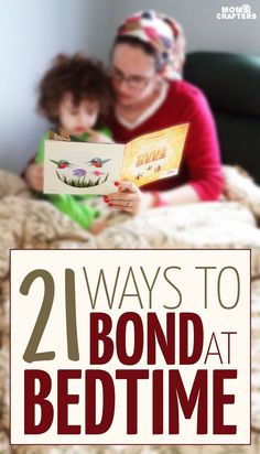 Do you read aloud to your child at bedtime? You should! Here are 21 ways to bond at bedtime with your toddler or young child | Parenting tips