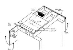 Flat shed roof construction.  Fill gap G with masonry or use joist hangers.