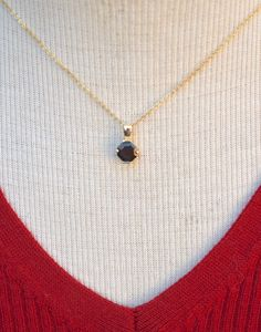 Garnet Pendant, Pearl Pendant, Diamond Pendant, Pendant Necklace, Real Gold Jewelry, Vintage Jewelry, Unique Jewelry, Vintage Necklaces, Birthstone Jewelry