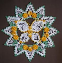 Butterflies and Roses Pineapple Doilies ebook