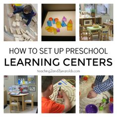 Setting Up Your Preschool Learning Centers