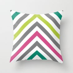 Chevron Throw Pillow by Gathered Nest Designs - $20.00